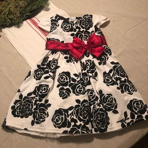 Girls size 4T floral holiday dress